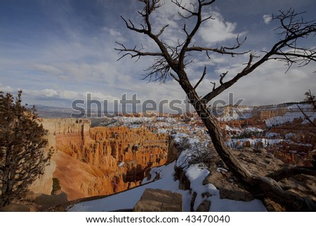 Bryce Canyon from the Sunset Point lookout trail. - stock photo