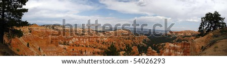 Bryce Canyon National Park is a national park located in southwestern Utah in the United States. - stock photo