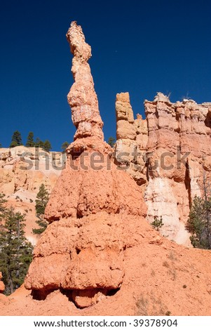 Bryce Canyon National Park is a United States National Park that is located in Utah's Canyon Country. - stock photo