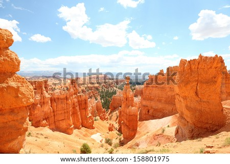 Bryce Canyon National Park landscape, Utah, United States. - stock photo