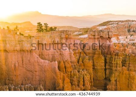 Bryce canyon national park when sunrise in summer season,Utah,usa. - stock photo