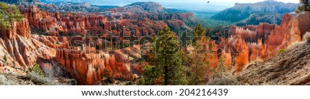 Bryce Canyon Panorama - stock photo