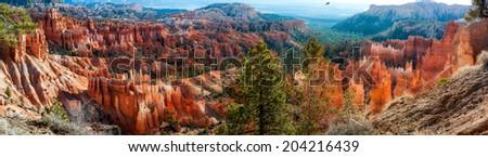 Bryce Canyon Panorama - stock photo