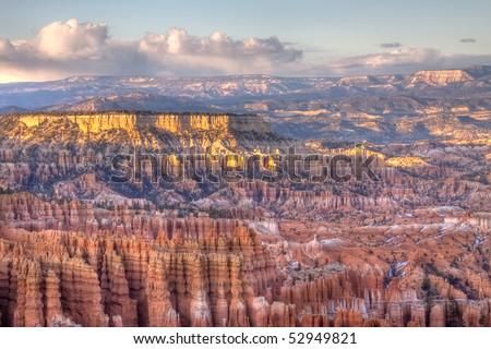 Bryce Canyon Panorama at Sunset - stock photo