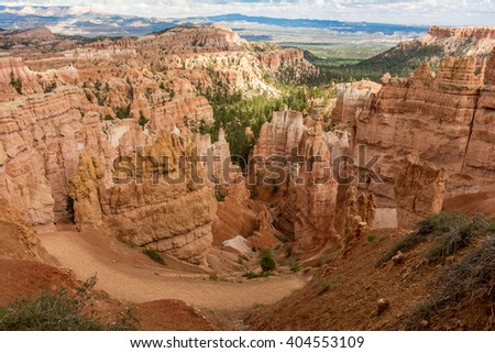 Bryce Canyon - The incredible hoodoos of Bryce Canyon National Park, Utah. - stock photo
