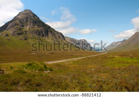 Buachaille Etive Beag in Glencoe. - stock photo