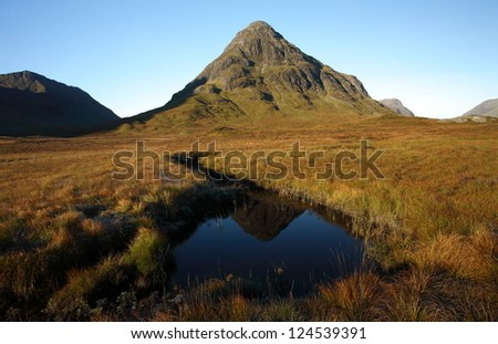 Buachaille Etive Beag in Glencoe in the Scottish Highlands.. - stock photo