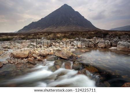 Buachaille Etive Mor, Scotland, Europe - stock photo