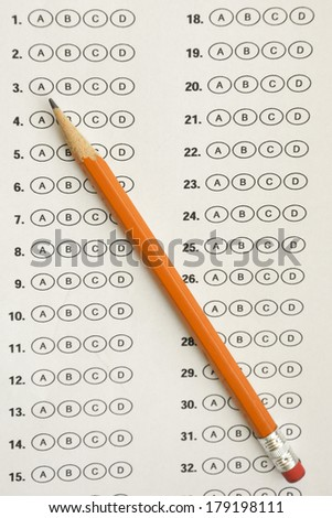 Bubble answer sheet Stock Photos, Illustrations, and Vector Art