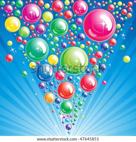 Bubble background - JPG - stock photo
