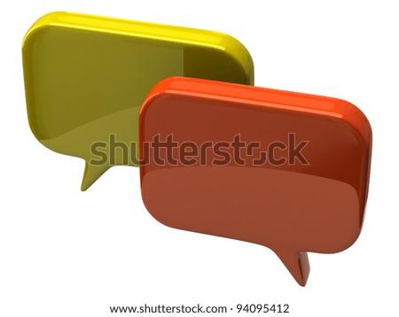 Bubble chat icon - stock photo