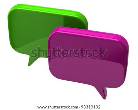 Bubble chat icon isolated on white background - stock photo