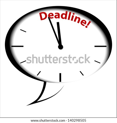 "Bubble Clock ""DEADLINE"""