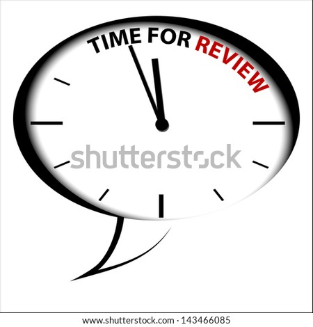 "Bubble Clock ""Time for review"" - stock photo"