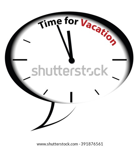 Bubble clock  Time for Vacations - stock photo