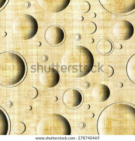 Bubble decorative pattern - circular tiles - Interior Design wallpaper - Vintage wallpaper - paneling pattern - retro vintage design - seamless pattern - rustic texture - papyrus texture - stock photo