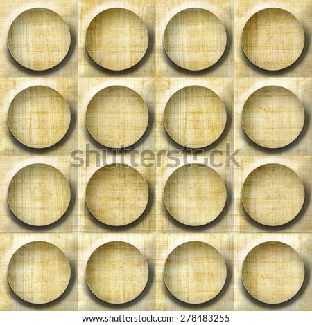Wooden Rounded Abstract Blocks Stacked Seamless Stock Illustration ...