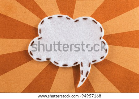 bubble fabric on brown paper - stock photo