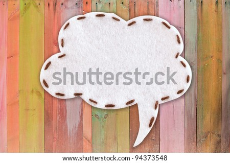 bubble fabric on color wood - stock photo