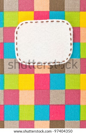 bubble fabric on colorful fabric