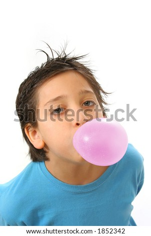 Bubble gum boy portrait with fun expressions. Look at my galery for more pictures of this model