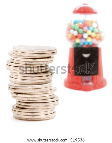 Bubble gum machine - stock photo