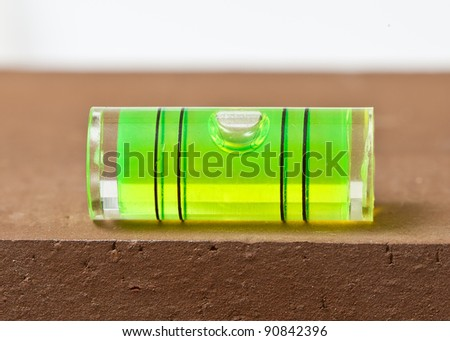 Bubble level on surface - stock photo