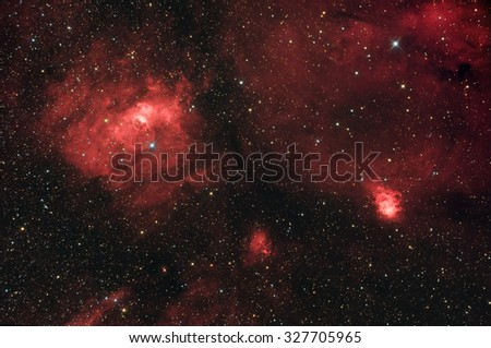 Bubble Nebula (NGC 7635) in Cassiopeia constellation