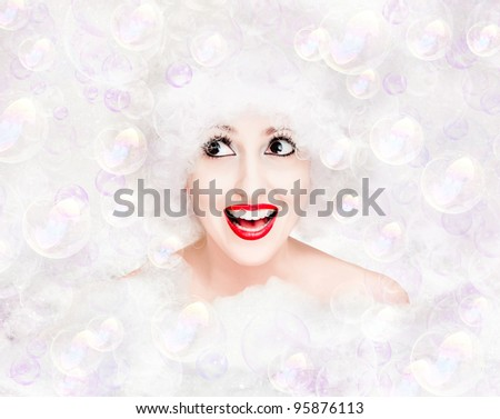 Bubble time - stock photo