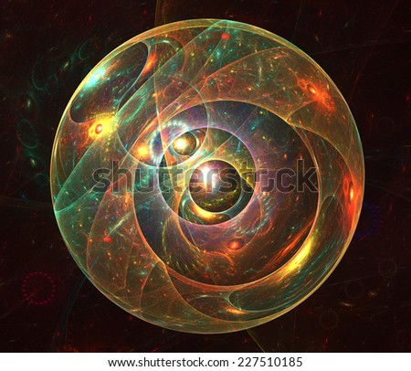 Bubble universe (abstract fractal render) - stock photo