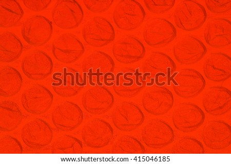 Bubble Wrap Background - Back lit with Red