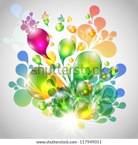Bubbles illustration - stock photo