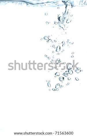 bubbles in a green water close up - stock photo