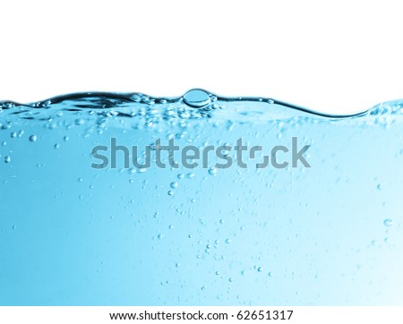 Bubbles in a transparency water of motion blur - stock photo