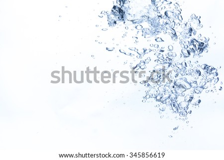 Bubbles in fresh water