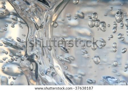 Bubbles in gel - stock photo