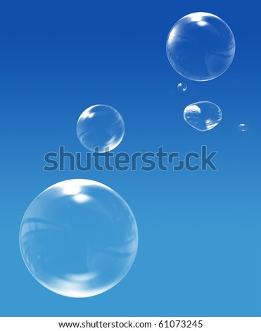 Bubbles in the sky - stock photo