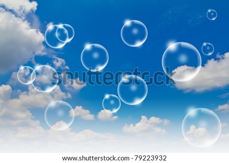 Bubbles in the sky Bubbles in the sky - stock photo