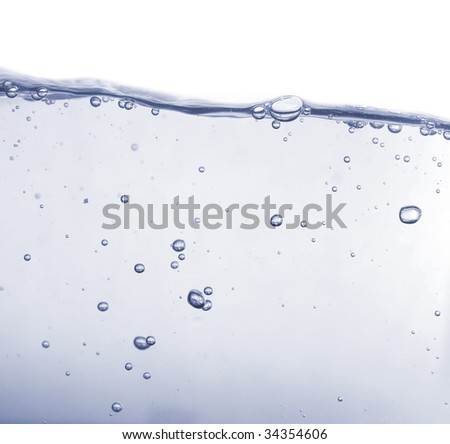 bubbles in water isolated on white