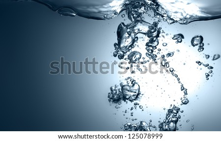 Bubbles of water