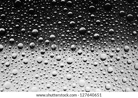 Bubbles on a gray background - stock photo