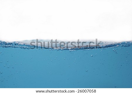 Bubbles on water surface - stock photo