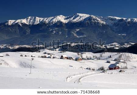 Bucegi mountains landscape panorama in Romania - stock photo