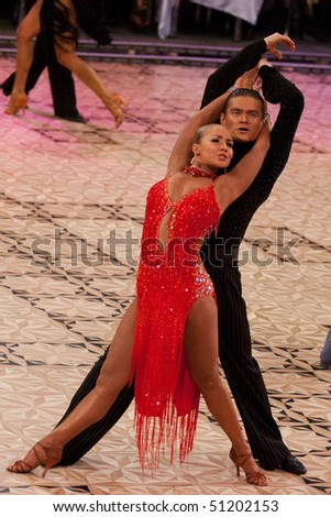 Stock Photo Bucharest March An Unidentified Dance Couple At Idsf Dance Masters On March In on Waltz Dance Step Chart