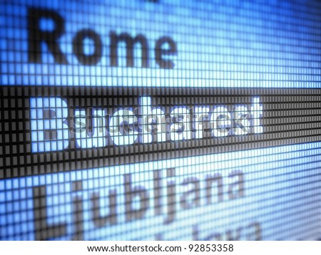 Bucharest. World capitals  Full collection of icons like that is in my portfolio - stock photo