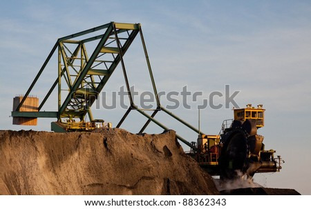 Bucket Excavator for Coal - stock photo