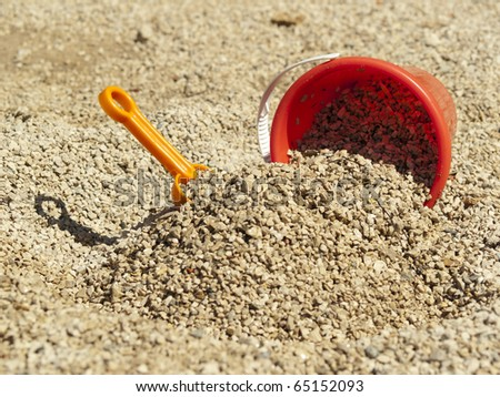 Bucket in the sand