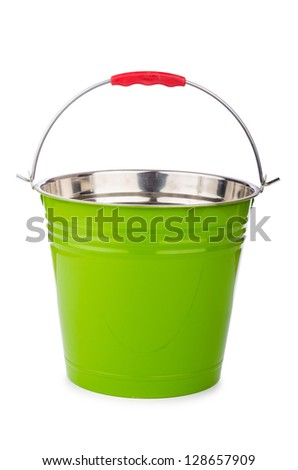 Bucket isolted on the white background - stock photo