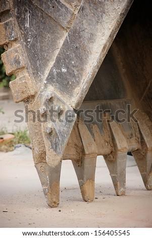 Bucket of excavator. - stock photo