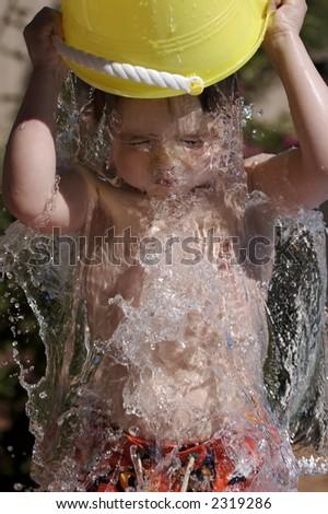 bucket of water - stock photo